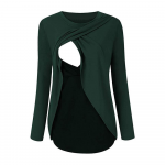 Bluza cu doua straturi gravide si alaptare XL verde
