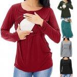 Bluza gravide si alaptare S verde