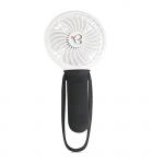 Mini ventilator cu incarcator USB Fan alb/negru Buggygear