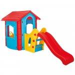 Casuta cu tobogan pentru copii Pilsan Happy House blue