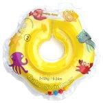 Colac de gat pentru bebelusi Babyswimmer galben cu zornaitoare 0-24 luni