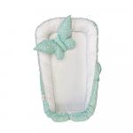 Cuib pentru bebelusi alb stelute