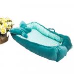 Cuib pentru bebelusi cu pernuta catifea turquoise