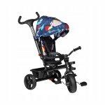 Tricicleta multifunctionala cu sezut reversibil, pliabila Haari Blue Navy