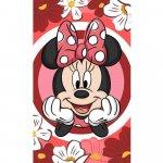 Prosop fata Minnie Red Flowers 30x50 cm SunCity
