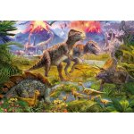 Puzzle Educa Meeting of dinosaurs 500 piese include lipici puzzle