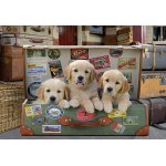 Puzzle Educa Puppies in the luggage 500 piese include lipici puzzle