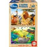 Puzzle din lemn Educa Disney : My Animals Friends 2x50 piese