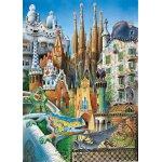 Puzzle mini Educa Antoni Gaudi: Collage 1000 piese include lipici puzzle