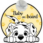 Semn de avertizare Baby on Board 101 Dalmatieni Disney CZ10458