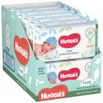 Servetele umede Huggies Pure Biodegradabile, 12 pachete x 56, 672 buc