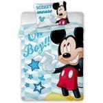 Set lenjerie pat copii Mickey Oh Boy 100x135 + 40x60 SunCity