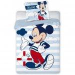 Set lenjerie pat copii Mickey Sailor 100x135 + 40x60 SunCity