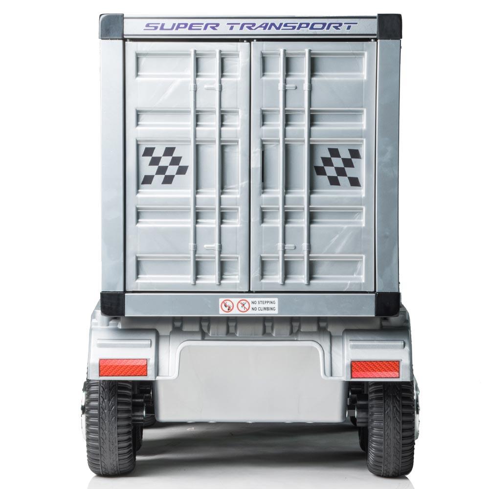 Autocamion Tir electric cu remorca pentru copii negru