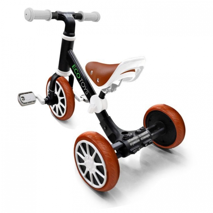 Bicicleta de echilibru 3 in 1 cu pedale pentru copii Ecotoys LC-V1322 Negru