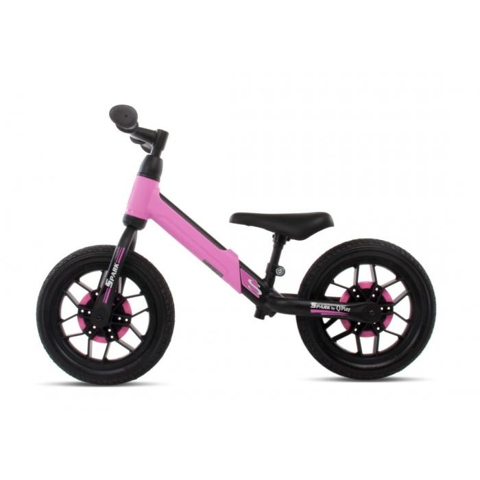 Bicicleta fara pedale si roti cu LED Sun Baby 017 Spark Pink