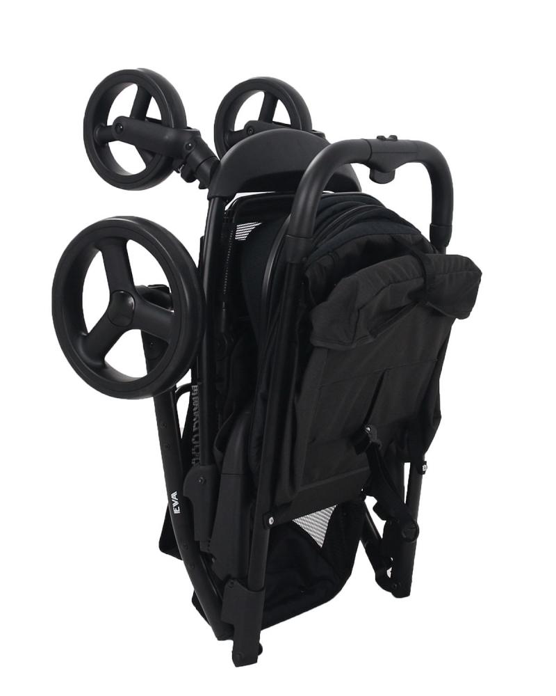 Carucior KikkaBoo cu geanta mamici si husa picioare Eva Black - 1