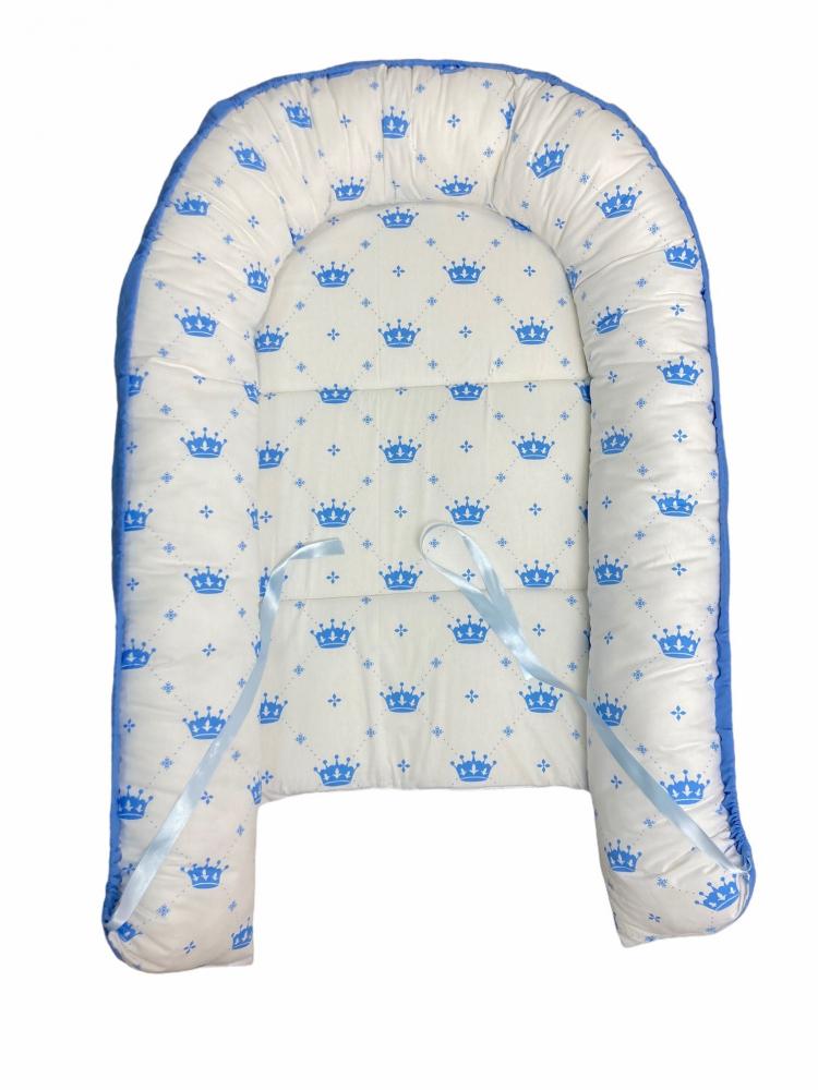 Cuib pentru bebelusi cu desfacere Coronite bleu
