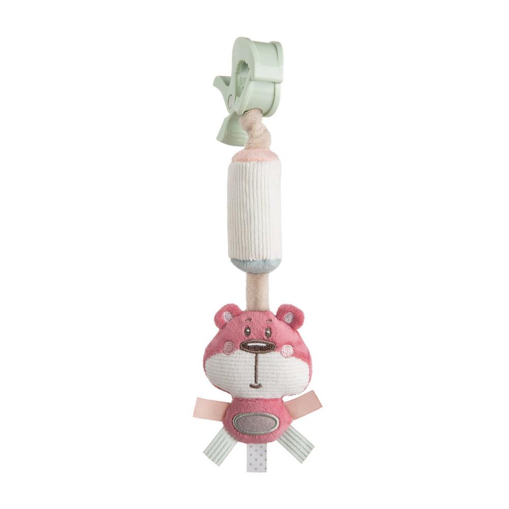 Jucarie pentru carucior cu sunatoare 68066 pink