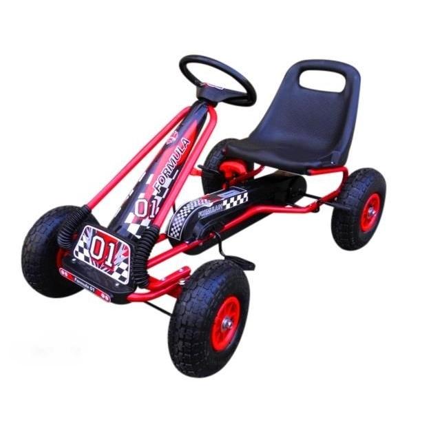 Kart cu pedale Gokart 3-7 ani roti gonflabile G1 R-Sport rosu