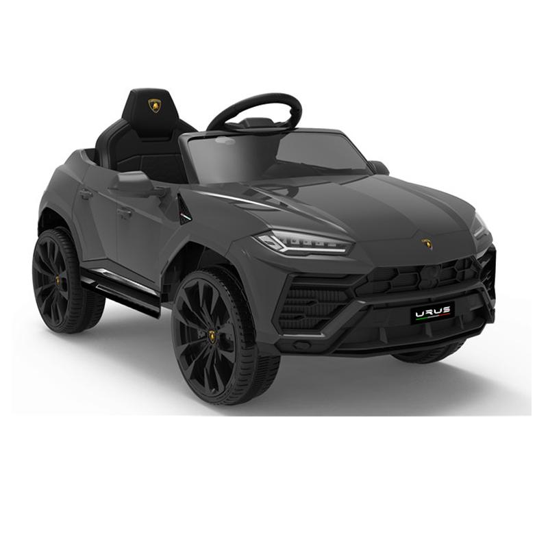 Masinuta electrica 12V Lamborghini Urus Negru cu scaun de piele si roti EVA