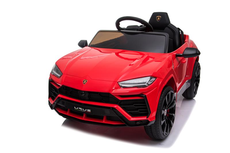 Masinuta electrica 12V Lamborghini Urus Rosu cu scaun de piele si roti EVA - 1
