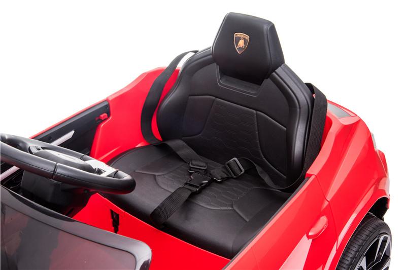 Masinuta electrica 12V Lamborghini Urus Rosu cu scaun de piele si roti EVA - 2