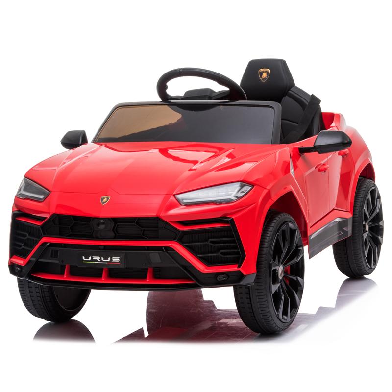 Masinuta electrica 12V Lamborghini Urus Rosu cu scaun de piele si roti EVA - 4