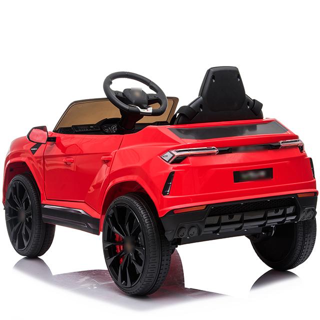 Masinuta electrica 12V Lamborghini Urus Rosu cu scaun de piele si roti EVA - 8