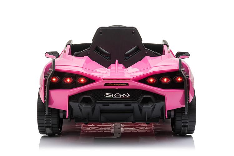 Masinuta electrica 12V cu roti EVA si scaun din piele Lamborghini Sian Roz - 5