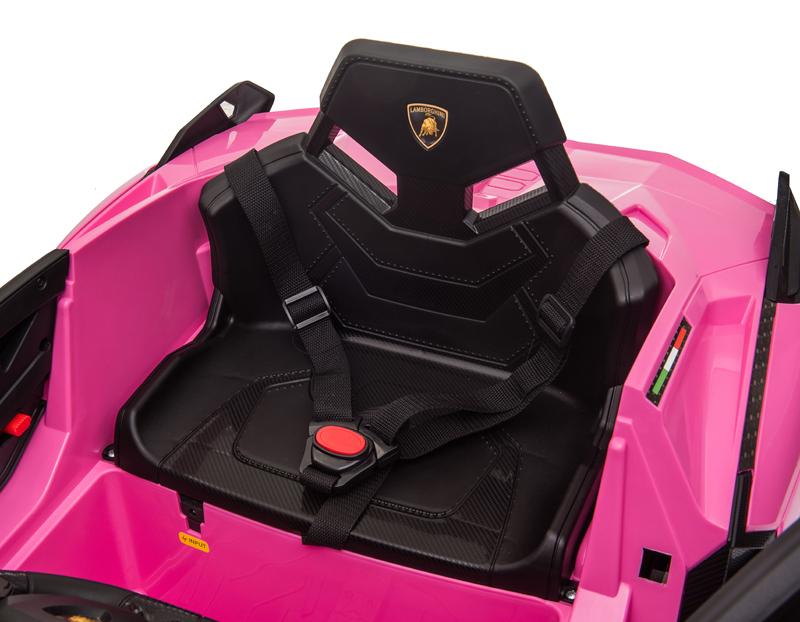 Masinuta electrica 12V cu roti EVA si scaun din piele Lamborghini Sian Roz - 8