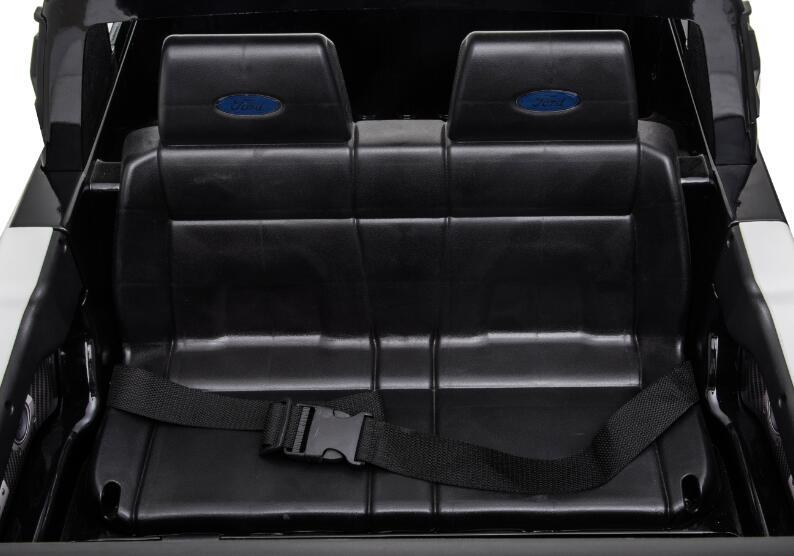 Masinuta electrica 12V cu scaun din piele si roti EVA Ford Ranger Raptor Police Negru - 4