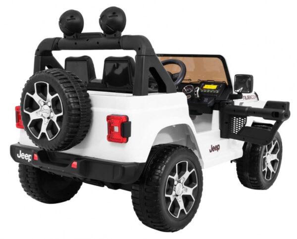 Masinuta electrica Jeep Wrangler Rubicon Alb 4x4 cu telecomanda si scaun piele - 6