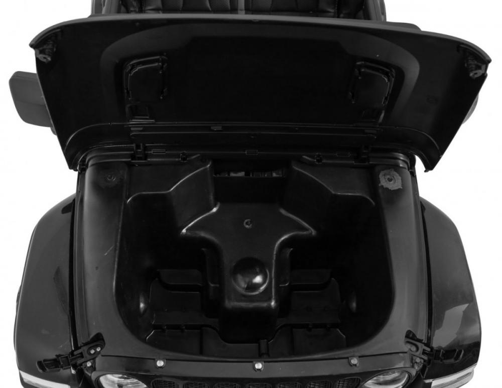 Masinuta electrica Jeep Wrangler Rubicon Negru 4x4 cu telecomanda si scaun piele
