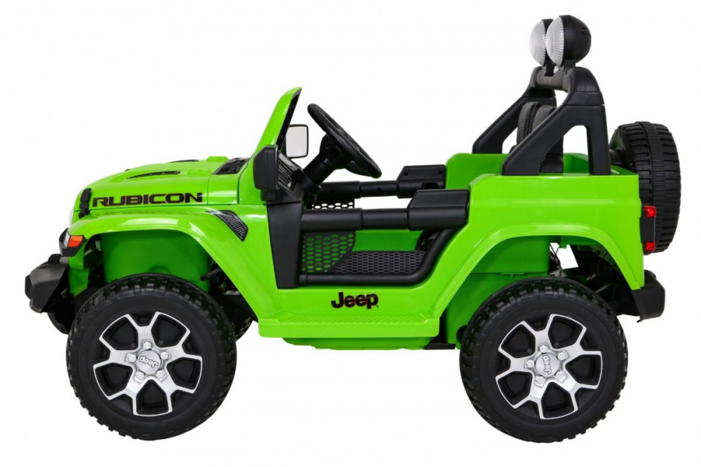 Masinuta electrica Jeep Wrangler Rubicon Verde 4x4 cu telecomanda si scaun piele