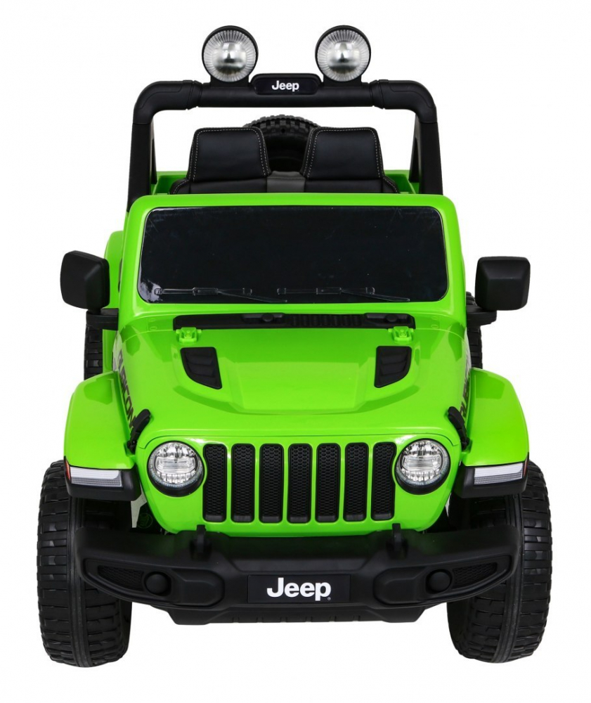 Masinuta electrica Jeep Wrangler Rubicon Verde 4x4 cu telecomanda si scaun piele - 5