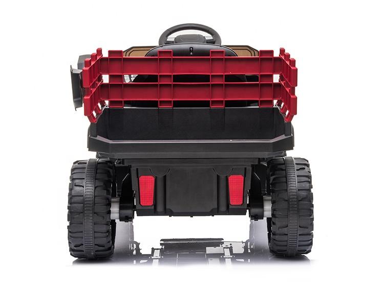 Masinuta electrica Off Road Rosu cu scaun de piele si roti EVA - 5