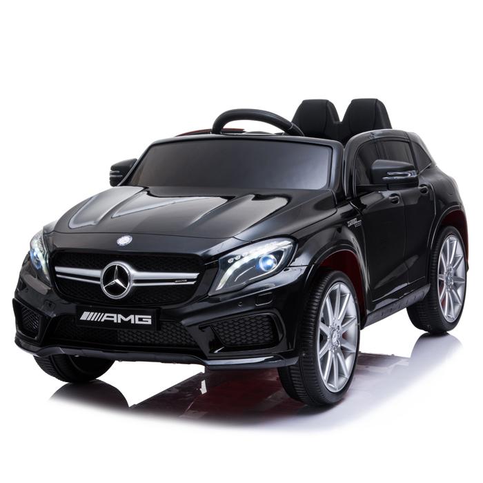 Masinuta electrica cu roti din cauciuc eva Mercedes GLA45 Editie limitata Painting Black