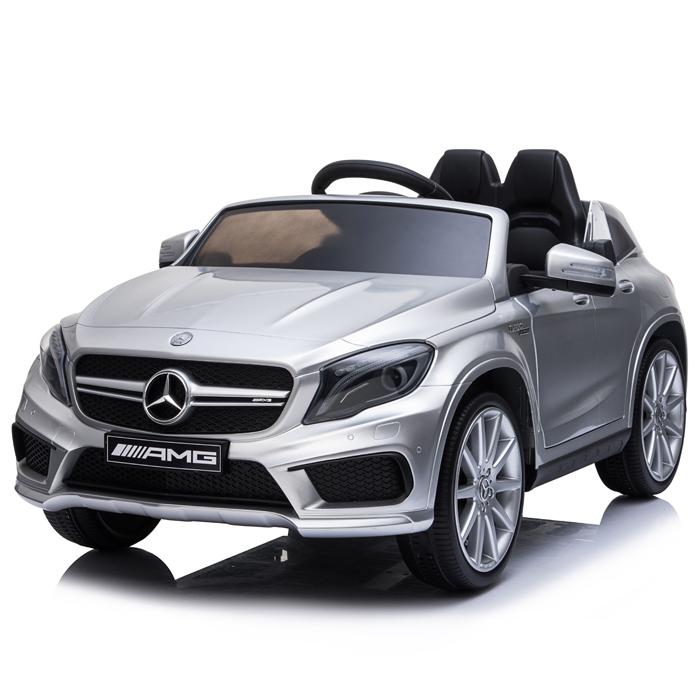 Masinuta electrica cu roti din cauciuc Mercedes GLA45 Editie Limitata Painting Silver
