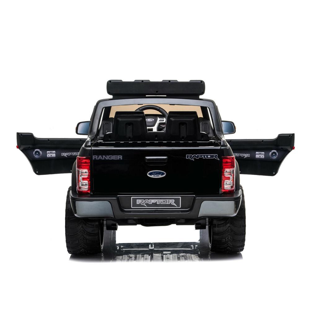Masinuta electrica cu roti EVA si scaun de piele Ford Ranger Raptor Negru