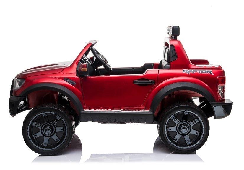 Masinuta electrica cu roti EVA si scaun de piele Ford Ranger Raptor Rosu Painted