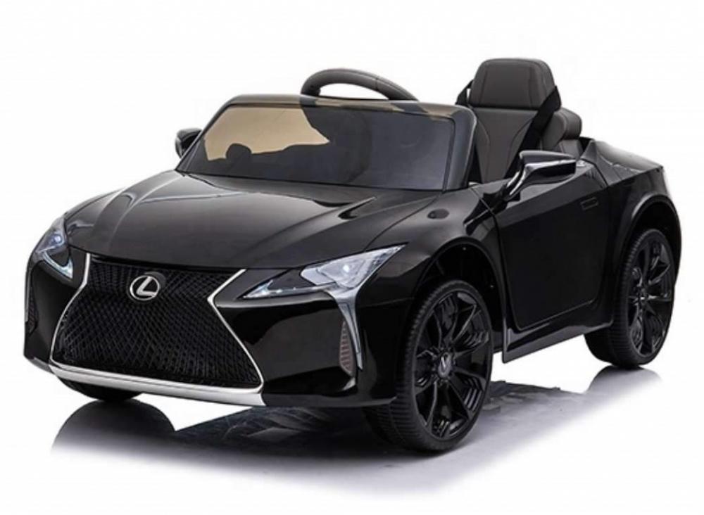 Masinuta electrica cu roti Eva si scaun de piele Lexus LC500 Black