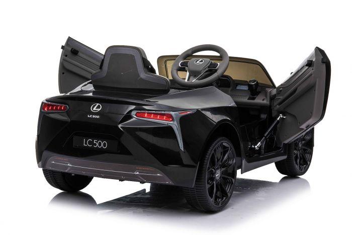 Masinuta electrica cu roti Eva si scaun de piele Lexus LC500 Black - 2