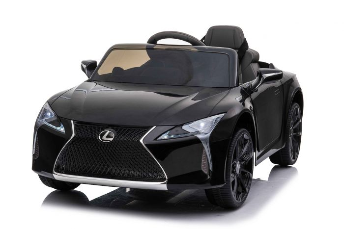 Masinuta electrica cu roti Eva si scaun de piele Lexus LC500 Black - 3