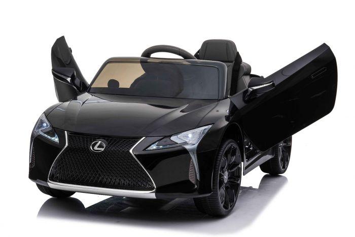 Masinuta electrica cu roti Eva si scaun de piele Lexus LC500 Black - 6