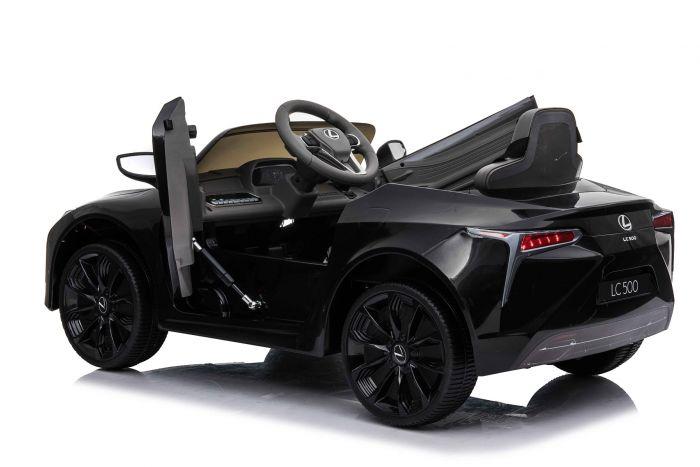 Masinuta electrica cu roti Eva si scaun de piele Lexus LC500 Black - 7