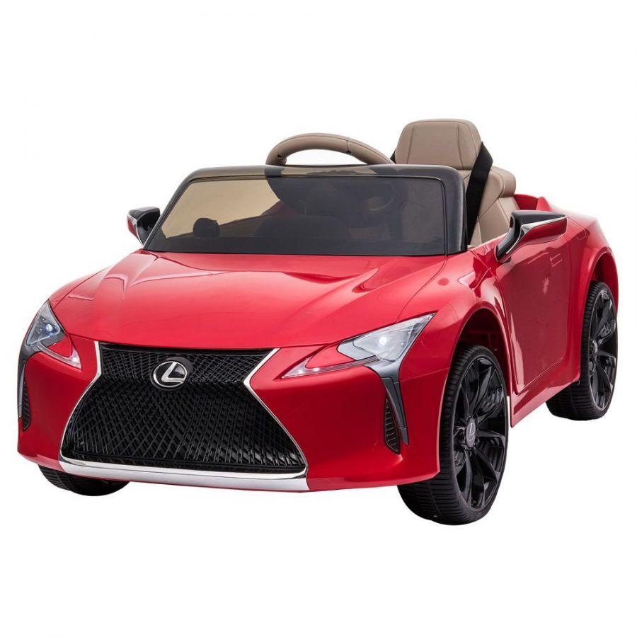 Masinuta electrica cu roti Eva si scaun de piele Lexus LC500 Red