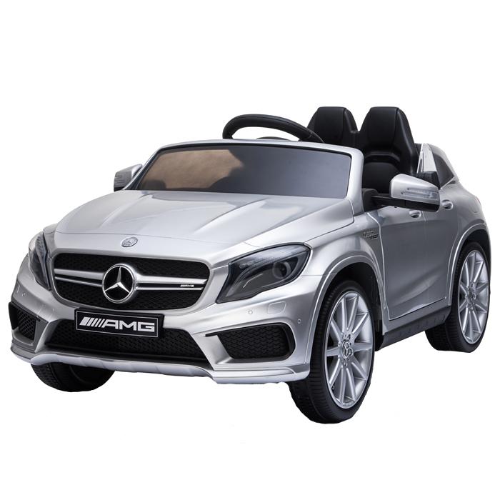 Masinuta electrica cu roti din cauciuc Mercedes GLA45 Editie Limitata Painting Silver - 4