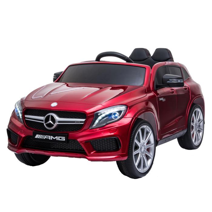 Masinuta electrica cu roti din cauciuc Mercedes GLA45 Editie limitata Painting Red - 7