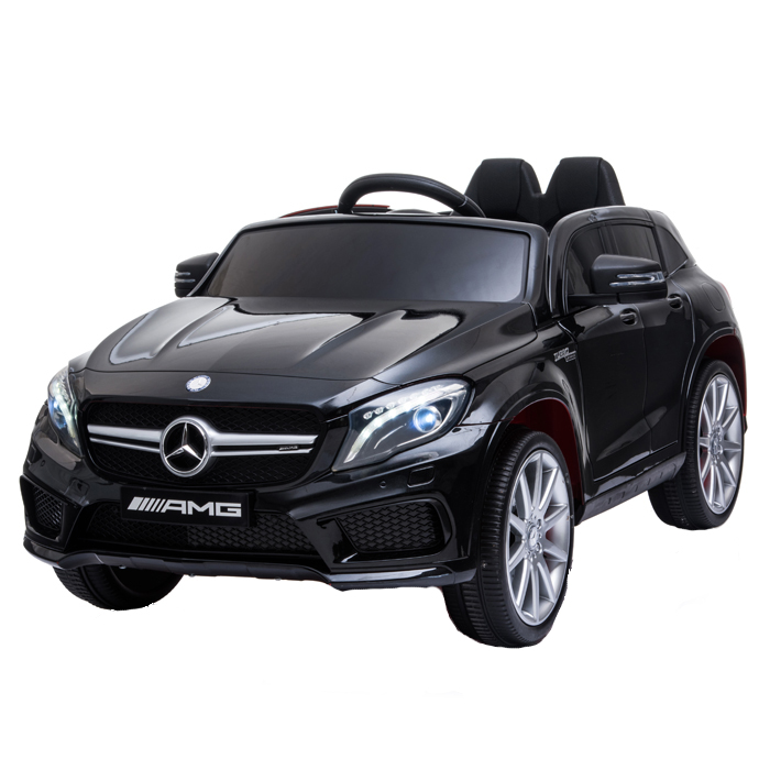 Masinuta electrica cu roti din cauciuc eva Mercedes GLA45 Editie limitata Painting Black - 7